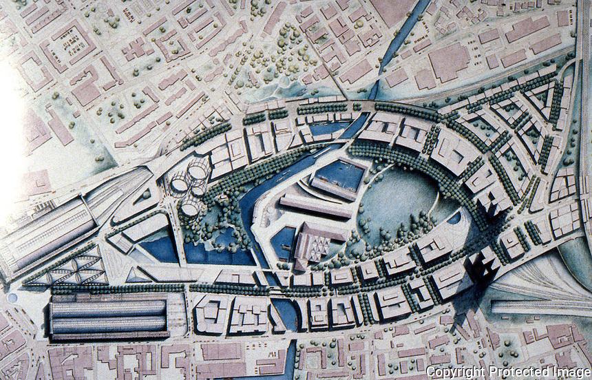 London: Foster Assoc.--King's Cross Channel Rail-Link Terminus, Plan. ARCH REVIEW, Dec. '89, p. 39.