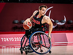 Vincent Dallaire, Tokyo 2020 - Wheelchair Basketball // Basketball en fauteuil roulant.<br /> Canada takes on Japan in a men's preliminary game // Le Canada affronte le Japon dans un match préliminaire masculin. 28/08/2021.