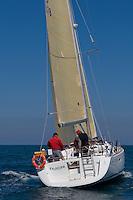 ESP 8078 FALAGUER Emilio Armengod Oliver OCEANIS 40 CN S.Carles de la Ràpita <br /> Salida de la 22 Ruta de la Sal 2009 Versión Este, Denia, Alicante, España