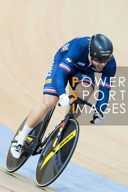 Quentin Lafargue of the team of France competes in Men's Team Sprint Finals match as part of the 2017 UCI Track Cycling World Championships on 12 April 2017, in Hong Kong Velodrome, Hong Kong, China. Photo by Victor Fraile / Power Sport Images