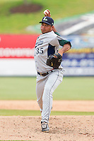 Relief pitcher David Martinez #35 of the Lexington Legends in action against the Kannapolis Intimidators at Fieldcrest Cannon Stadium on May 11, 2011 in Kannapolis, North Carolina.   Photo by Brian Westerholt / Four Seam Images