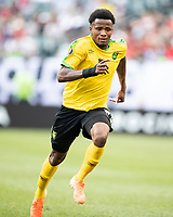PHILADELPHIA, PA - JUNE 30: Elvis Powell #5 during a game between Panama and Jamaica at Lincoln Financial Field on June 30, 2019 in Philadelphia, Pennsylvania.