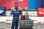 Monster Energy NASCAR Cup Series<br /> Bank of America 500<br /> Charlotte Motor Speedway, Concord, NC<br /> Sunday 8 October 2017<br /> Martin Truex Jr, Furniture Row Racing, Auto-Owners Insurance Toyota Camry victory lane<br /> World Copyright: Lesley Ann Miller<br /> LAT Images