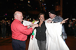 David Westphal, Eric Sciotto & Merwin Foard (recepient for 'Annie') attending the Opening Night Performance Gypsy Robe Ceremony celebrating Eric Sciotto receiving for 'The Mystery of Edwin Drood' at Studio 54 in New York City on 11/13/2012
