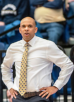 WASHINGTON, DC - JANUARY 5: Jamion Christian coach of George Washington watches the action during a game between St. Bonaventure University and George Washington University at Charles E Smith Center on January 5, 2020 in Washington, DC.