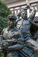 Wenzhou, Zhejiang, China.  Jiangxin Island.  Statue in Honor of the 1949 Revolution, Museum of the Revolution.