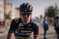 "Nicolas Cleppe's (BEL/Telenet Fidea Lions) post-race face<br /> <br /> Antwerp Port Epic 2018 (formerly ""Schaal Sels"")<br /> One Day Race:  Antwerp > Antwerp (207 km; of which 32km are cobbles & 30km is gravel/off-road!)"