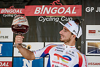Niccolò Bonifazio (ITA/TotalEnergies) wins the 55th Grote Prijs Jef Scherens - Rondom Leuven 2021 (BEL)<br /> <br /> One day race from Leuven to Leuven (190km)<br /> ridden over the final circuit of the 2021 World Championships road races <br /> <br /> ©kramon