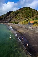 Strand von Porto Pim in Horta auf der Insel Faial, Azoren, Portugal