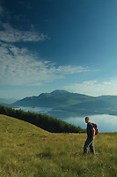 Ben Lomond and Loch Lomond from Beinn Dubh, Loch Lomond and the Trossachs National Park, Argyll & Bute<br /> <br /> Copyright www.scottishhorizons.co.uk/Keith Fergus 2011 All Rights Reserved