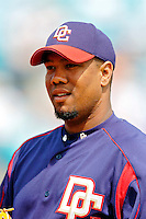 14 March 2006: Livan Hernandez, pitcher for the Washington Nationals, heads back to the dugout during a Spring Training game against the Florida Marlins. The Marlins defeated the Nationals 2-1 at Space Coast Stadium, in Viera, Florida...Mandatory Photo Credit: Ed Wolfstein..