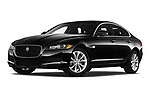 Stock pictures of low aggressive front three quarter view of a 2020 Jaguar XF Premium 4 Door Sedan