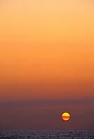 Beautiful and scenic sunset off Kona.