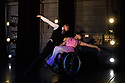 London, UK. 09.05.2018. Step Change Studios present their ballroom show Fusion, at Sadler's Wells' Lilian Baylis Studio. Fusion is the UK's first inclusive Latin and ballroom dance showcase by disabled and non-disabled artists, drawing on different dance influences such as swing and contemporary to develop original pieces inspired by Latin and ballroom. Picture shows: WALTZ DUET created by Ivana Ostrowski, performed by Laura Jones and Lawrence James. Photograph © Jane Hobson.