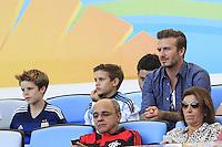 David Beckham with his sons Romeo and Cruz