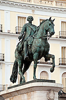 King Charles III, Puerta del Sol, Madrid, Spain