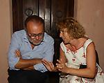 CARLO PETRUCCIOLI CON STEFANIA CRAXI<br /> PREMIO LETTERARIO CAPALBIO 2003