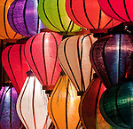 Lantern Stall 05 - Night stalls selling silk lanterns, An Hoi Island, Hoi An Viet Nam