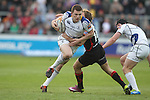 Andrew Conway goes past Will Harries..RaboDirect Pro 12.Newport Gwent Dragons v Leinster..05.05.12.©Steve Pope-Sportingwales