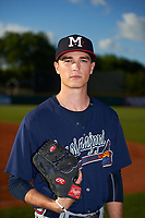 Mississippi Braves pitcher Max Fried (32) poses for a photo before a game against the Montgomery Biscuits on April 24, 2017 at Montgomery Riverwalk Stadium in Montgomery, Alabama.  Montgomery defeated Mississippi 3-2.  (Mike Janes/Four Seam Images)