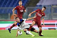 Remo Freuler of Atalanta BC , Alessandro Florenzi of AS Roma <br /> Roma 25-9-2019 Stadio Olimpico <br /> Football Serie A 2019/2020 <br /> AS Roma - Atalanta Bergamasca Calcio <br /> Foto Andrea Staccioli / Insidefoto