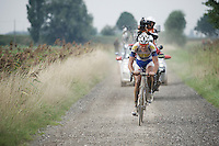 Jelle Wallays (BEL/Topsport Vlaanderen-Baloise) is the race leader over the gravel at this point<br /> <br /> 90th Schaal Sels 2015