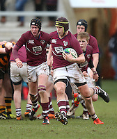 CAI vs RBAI | Tuesday 3rd March 2015<br /> <br /> Jack McCarroll during the 2015 Ulster Schools Cup Semi-Final between Coleraine Inst and RBAI at the Kingspan Stadium, Ravenhill Park, Belfast, Northern Ireland.<br /> <br /> Picture credit: John Dickson / DICKSONDIGITAL