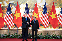 President Trump's Trip to Vietnam<br /> <br /> President Donald J. Trump and Nguyen Xuan Phuc, Prime Minister of the Socialist Republic of Vietnam, participate in a photo opportunity in the main foyer of the Office of Government Hall Wednesday, Feb. 27, 2019, in Hanoi. (Official White House Photo by Shealah Craighead)