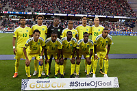 St. Paul, MN - Tuesday June 18, 2019: Guyana Starting Eleven  during a 2019 CONCACAF Gold Cup group D match between the United States and Guyana on June 18, 2019 at Allianz Field in Saint Paul, Minnesota.
