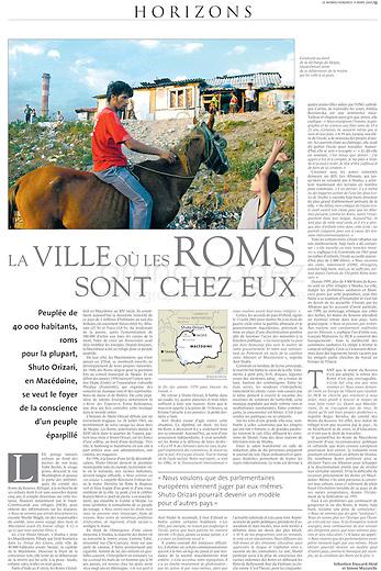 LE MONDE (main French daily newspaper)..2005/03/11.Skopje, Macedonia..Photo: Tomislav Georgiev