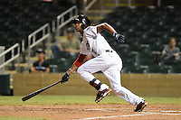 Salt River Rafters outfielder Byron Buxton (2) during an Arizona Fall League game against the Peoria Javelinas on October 17, 2014 at Salt River Fields at Talking Stick in Scottsdale, Arizona.  The game ended in a 3-3 tie.  (Mike Janes/Four Seam Images)