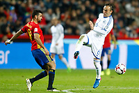 Spain's Diego Costa (l) and Israel's Bribas Natcho during FIFA World Cup 2018 Qualifying Round match. March 24,2017.(ALTERPHOTOS/Acero) /NortePhoto.com