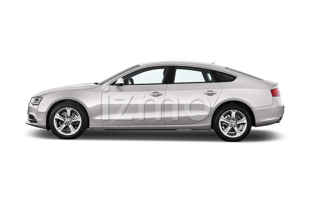 Driver side profile view of a 2014 Audi A5 Sportback AMBIENTE 5 Door Hatchback 2WD