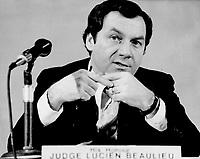 1975 File -<br /> <br /> Lucien Beaulieu, judge<br /> <br /> Photo : Bob Olsen<br /> Toronto Star Archives via AQP