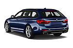 Car pictures of rear three quarter view of 2019 BMW 5-Series - 5 Door Wagon Angular Rear