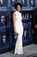 Nathalie Emmanuel @ the Los Angeles premiere of HBO 'Game of Thrones' season 6 held @ the Chinese theatre.<br /> April 10, 2016