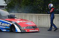 Oct. 7, 2012; Mohnton, PA, USA: NHRA funny car driver Bob Tasca III during the Auto Plus Nationals at Maple Grove Raceway. Mandatory Credit: Mark J. Rebilas-