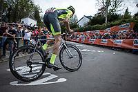 Tom Wirtgen (LUX/Wallonie Bruxelles) up the infamous 'Mur de Huy'<br /> <br /> 83th Flèche Wallonne 2019 (1.UWT)<br /> 1 Day Race: Ans – Huy 195km<br /> <br /> ©kramon