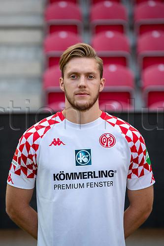 16th August 2020, Rheinland-Pfalz - Mainz, Germany: Official media day for FSC Mainz players and staff; Keeper Florian Muller FSV Mainz 05