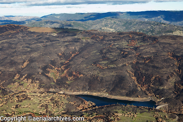 Atlas Fire at the Milliken Reservoir, Napa County, California, northern California wildfires, 2017.