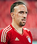 GUANGZHOU, GUANGDONG - JULY 26:  Franck Ribery of Bayern Munich looks on during a friendly match against VfL Wolfsburg as part of the Audi Football Summit 2012 on July 26, 2012 at the Guangdong Olympic Sports Center in Guangzhou, China. Photo by Victor Fraile / The Power of Sport Images
