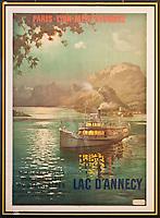 Europe/France/Rhône-Alpes/74/Haute-Savoie/Annecy: Vieille affiche pour le Lac d'Annecy au  Musée-Château d'Annecy [Non destiné à un usage publicitaire - Not intended for an advertising use]