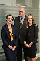 Victoria Elliott (left) and Beth Mather   pictured with Mark Rutherford at Gateley plc in Nottingham