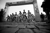 Paris-Roubaix 2012 ..even the startgrid is cobbled