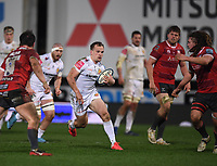 26th March 2021; Kingsholm Stadium, Gloucester, Gloucestershire, England; English Premiership Rugby, Gloucester versus Exeter Chiefs; Stu Townsend of Exeter Chiefs makes a break