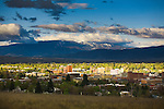 The Missoula, Montana valley in springtime
