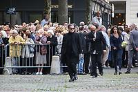 FRANCIS HUSTER - LES OBSEQUES DE MIREILLE DARC A PARIS, FRANCE, LE 01/09/2017.