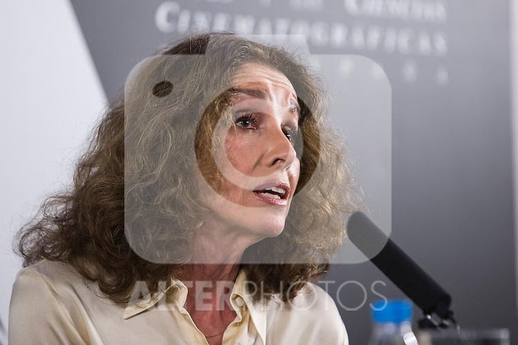 Spanish actress Ana Belen attend the Goya honorary Aaward 2017 press conference at Academia de CineMadrid, January  17, 2017. (ALTERPHOTOS/Rodrigo Jimenez)