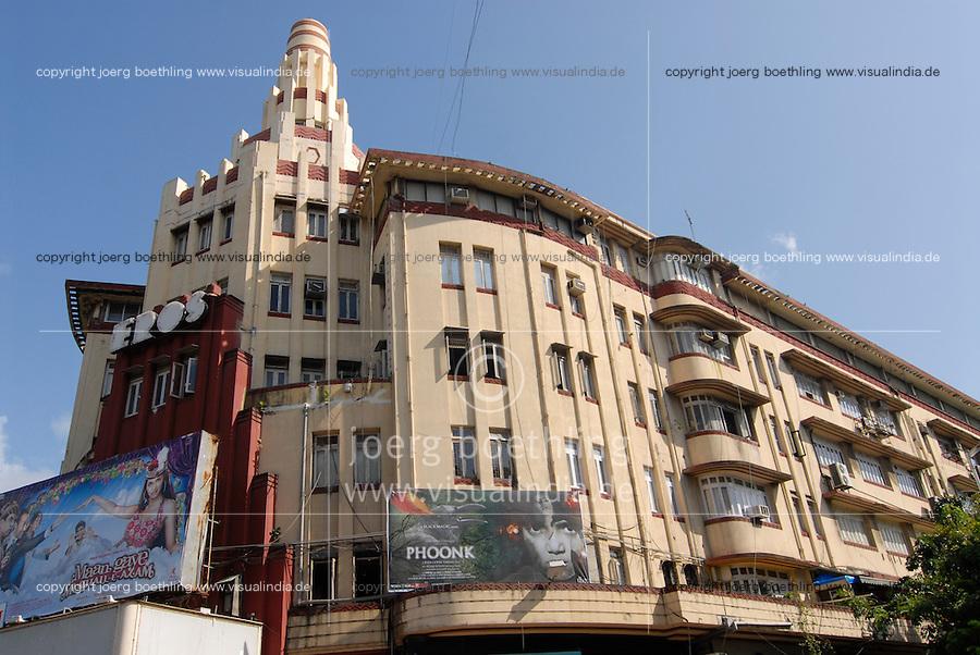 India Mumbai , Eros cinema in Art Deco style at Churchgate station / Indien Bombay, Eros Kino im Baustil des Art Deco am Churchgate Bahnhof