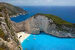 Greece, Ionian Islands, Zakynthos, bei Volimes: Shipwreck Bay | Griechenland, Ionische Inseln, Zakynthos, bei Volimes: Shipwreck Bay